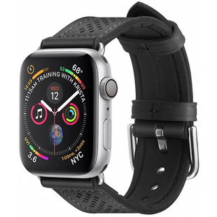 Ремешок для Apple Watch 42, 44 mm (Spigen Retro Fit 062MP25079) (черный)